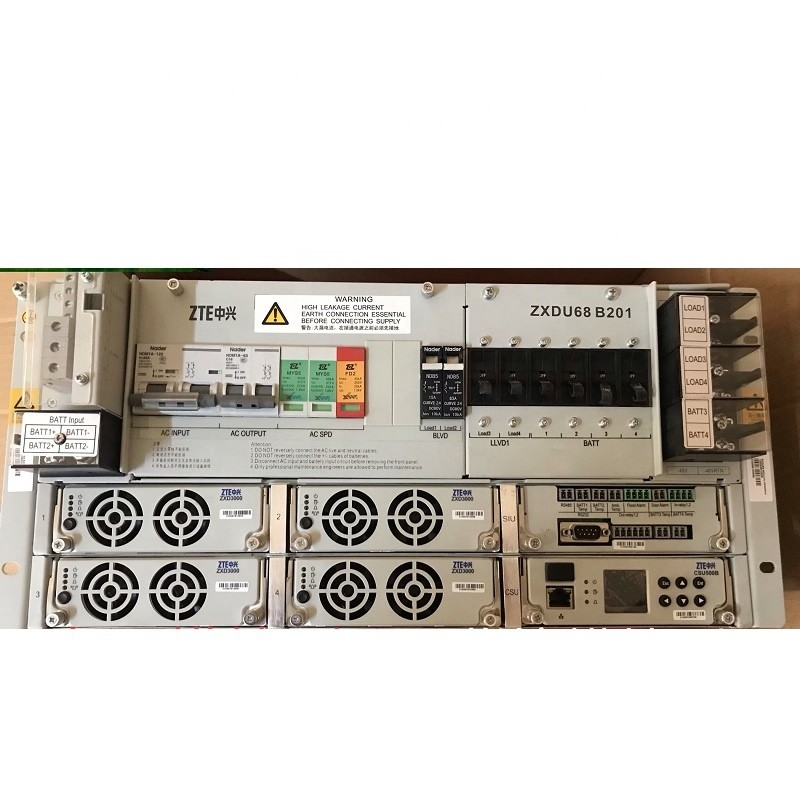 DC Telecom Power System 48V 200A ZTE ZXDU68 B201 V5.0R99M04 zxd3000 v5.0R03 CSU501B Indoor/outdoor Cabinet with BS8900A BS8800